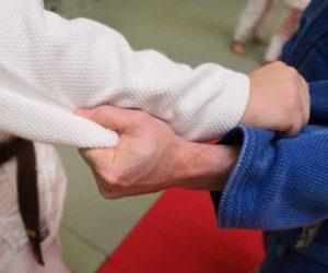 Judo Griff Unterarm