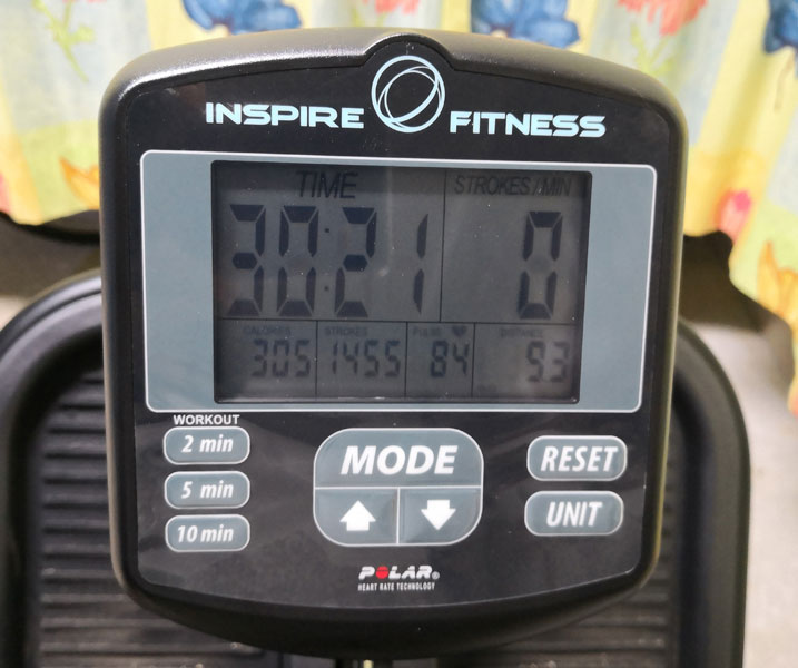 Inspire Cross Rower Trainingscomputer